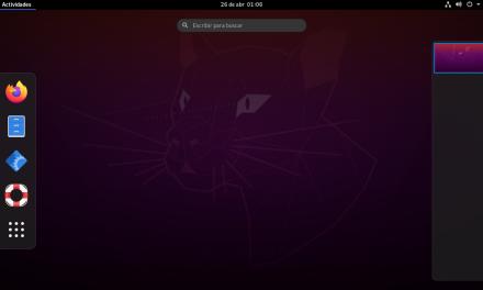 Gnome Vainilla en Ubuntu 20.04